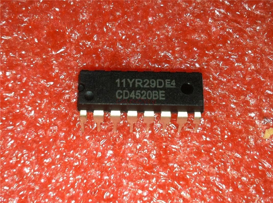 10pcs/lot CD4520BE CD4520 DIP-16 New Original In Stock