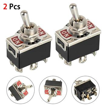 2pcs 20A 125V Car Boat Heavy Duty Toggle Switch DPDT On-Off-On Switch 6 Terminal Waterproof ON OFF Rocker Toggle Switch фото