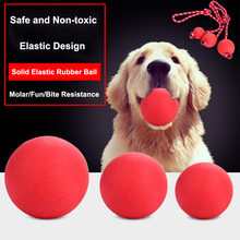 dog toy ball pet toy bite resistant sound making elastic ball large dogs molar golden retriever teddy tooth cleaning training ba S/M/L/XL Pet Dog Chew Toy ball Bite Resistant Rubber Elastic Solid Training Toy Ball Petshop Play Toys for Small Large Dogs