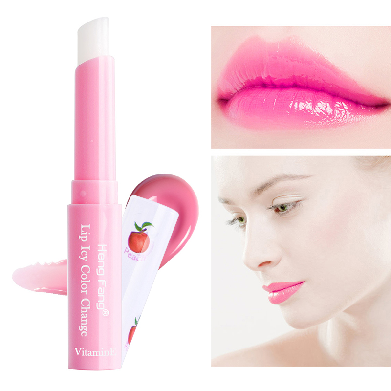 Fashion Temperature Change Color Lipstick Peach Jelly Lip Balm Repair Moisturizing Lip Gloss TSLM1