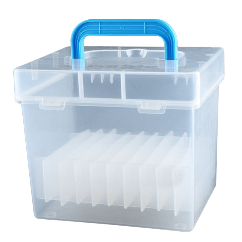 Transparent 80-Slots Portable Waterproof Markers Pens Storage Case For Mark Office Desk Organizer