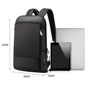 Image 5 - BOPAI Super Slim Laptop Backpack USB Charging Port Men Anti Theft Back Pack Waterproof College Backpacking Updated Version