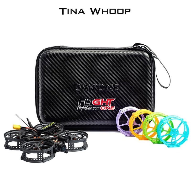 Diatone Hey Tina Whoop 8500KV 86mm Flighone Falcox F4 2-3S FPV Whoop TBS PNP Frsky R-XSR BNF for RC FPV Racing Drone Multi-Rotor