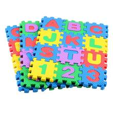36PCS Baby Toy Number Alphabet Foam Mat Puzzle Floor Mat Carpet Bedroom Mat Educational Toys EVA Foam Pad Teaching Floor Mats(China)
