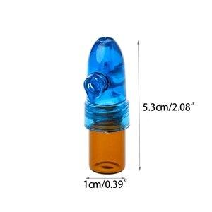 Маленький акриловый Пластиковый Дозатор для нюхательного табака, цилиндрическая ракета, стеклянный флакон 53 мм E8BB
