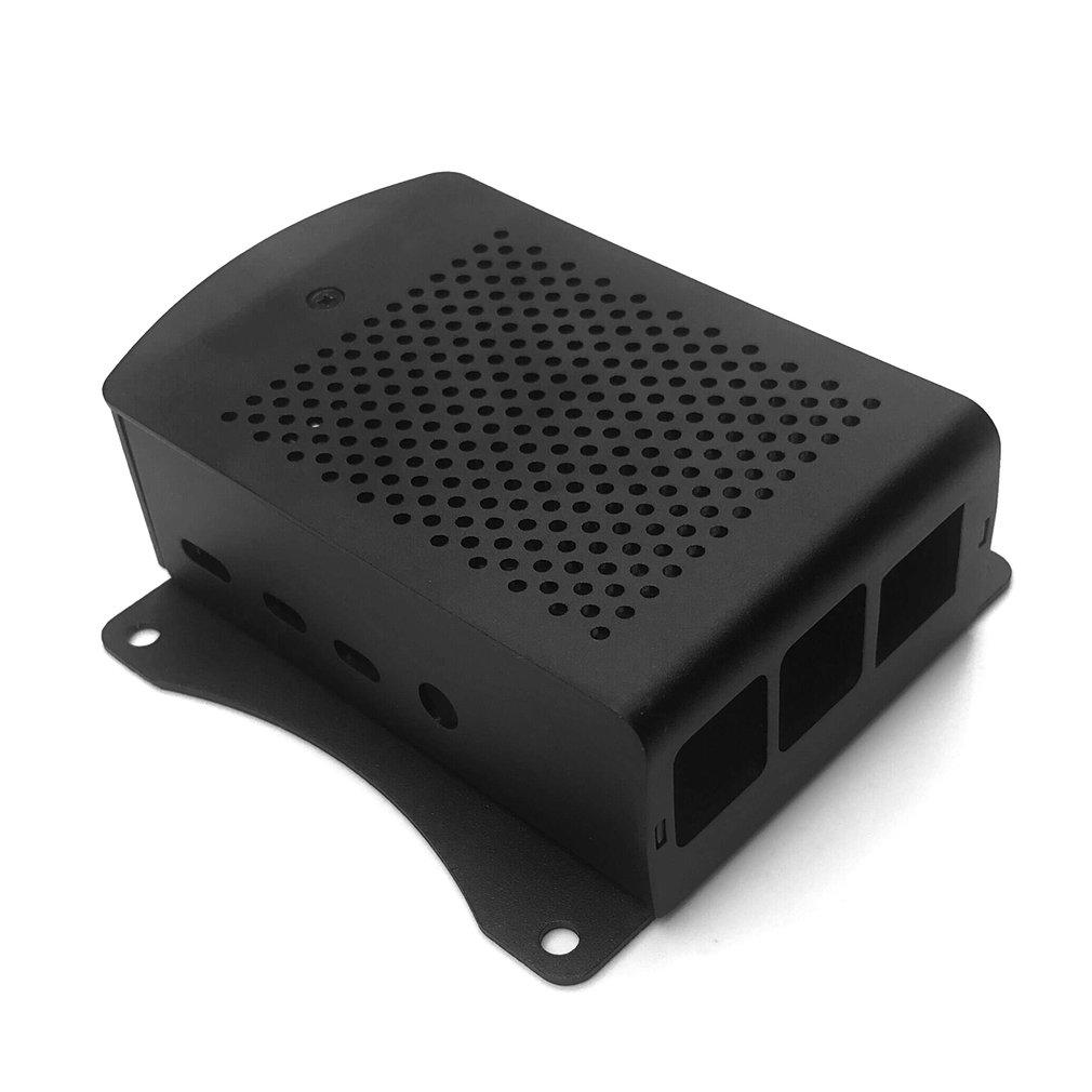 For Raspberry Pi 4B Aluminum Case Black Metal Shell Box Case Black Enclosure For RPI 4 Model B RPI 4B Case