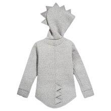 1 7 T ชายหญิง Hoodies ฤดูใบไม้ผลิฤดูใบไม้ร่วง Outerwear เด็กไดโนเสาร์ Hooded Sweatshirt เสื้อผ้าเด็กแขนยาวเสื้อเสื้อ