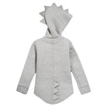 1 7T Boys Girls Hoodies Spring Autumn Outerwear Kids Dinosaur Hooded Sweatshirt Clothes Children Long Sleeve Pullover Tops Coat
