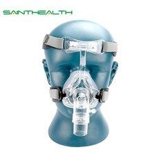 BMC NM2 האף מסכה עם כיסויי ראש וכרית ראש S/M/L שונה גודל מתאים CPAP מכונה oxygenerator להתחבר צינור ופנים