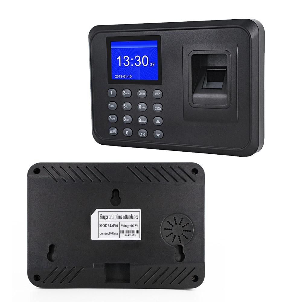 Multi-language Fingerprint Time Attendance System Clock Recorder Employee Recognition Recording Device Electronic Machine