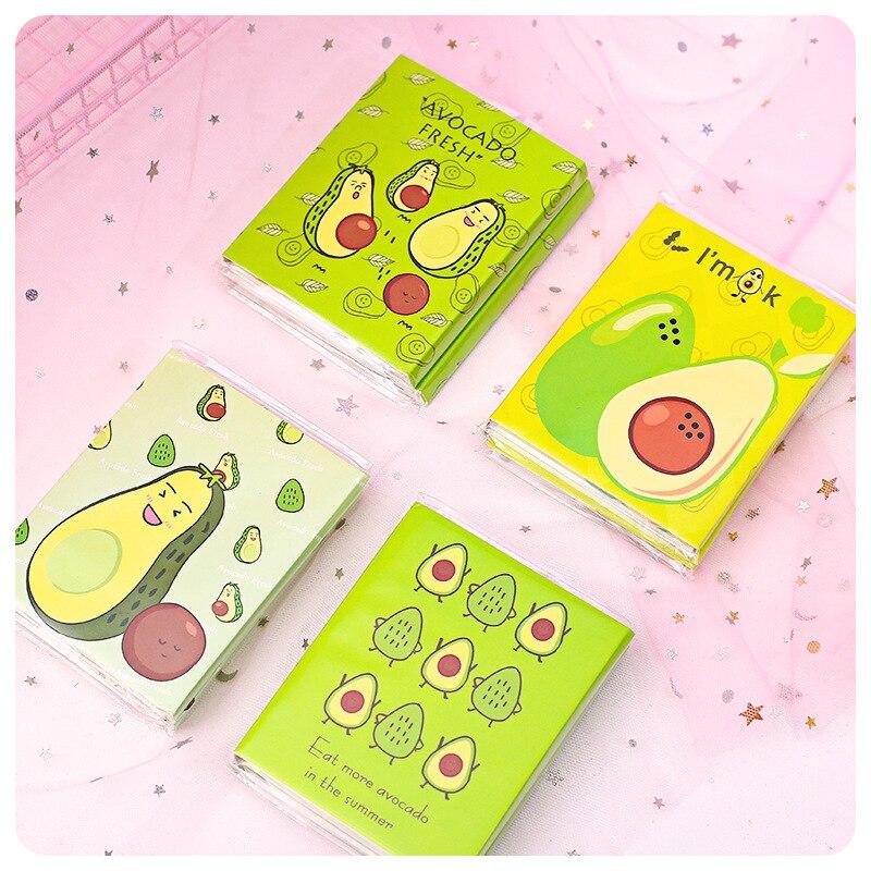 Avocado Fresh Smile 4 Folding Memo Pad Sticky Notes Escolar Papelaria School Supply Bookmark Label
