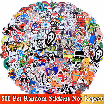 Random 500 PCS / Lot Mix Funny JDM Stickers For Car Laptop Kids Skateboard Motorcycle Furniture Decal DIY Toy Waterproof Sticker - Category 🛒 Toys & Hobbies
