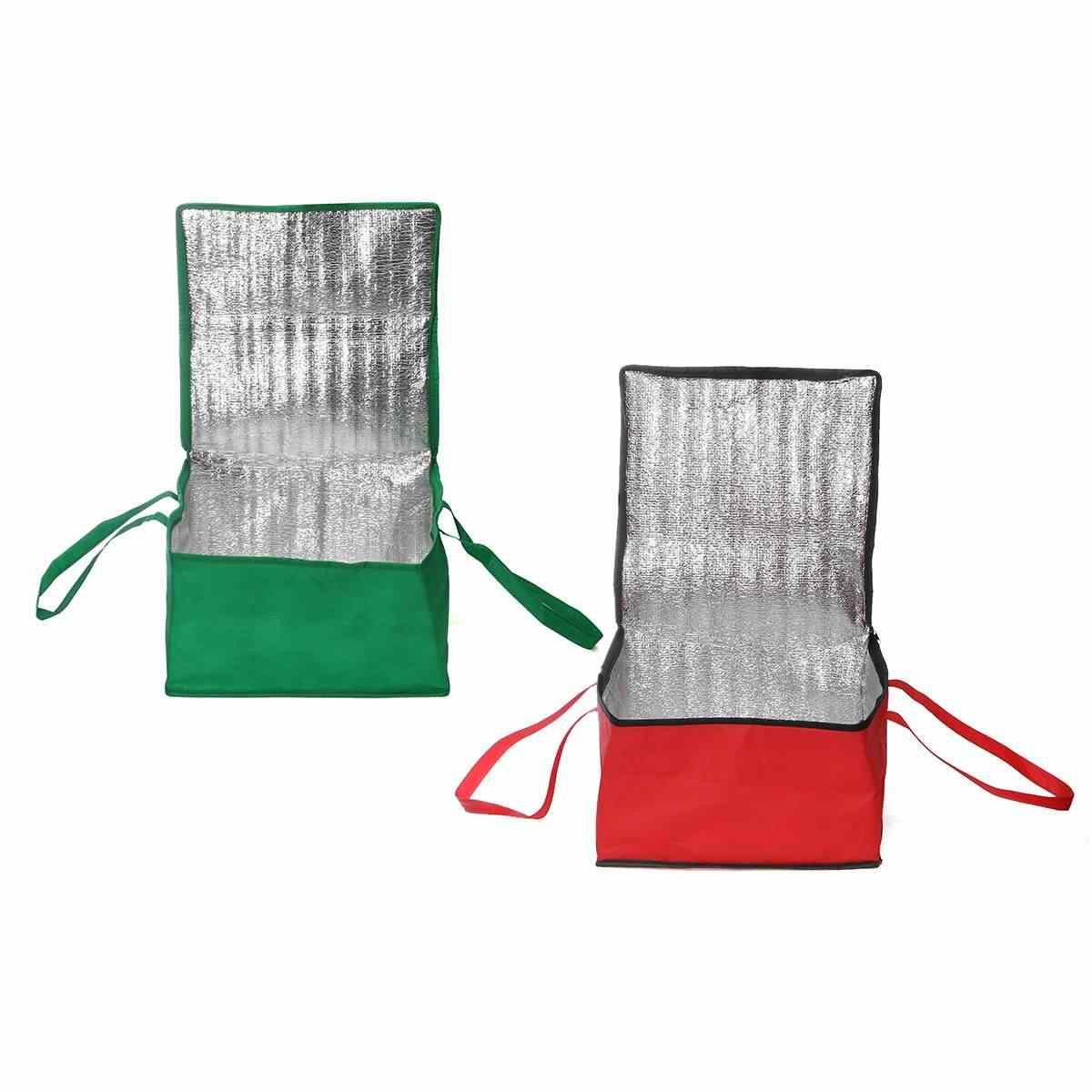32L impermeable bolsa aislante para el almuerzo bolsa de aislamiento plegable de Picnic bolsa de hielo portátil comida térmica bolsa de entrega de Pizza