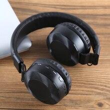 Fones de ouvido esportivos sem fio, headset com bluetooth 5.0, suporte para cartão tf, fm, música, stereo, dobrável, com microfone