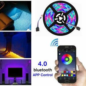 5V USB Power LED Strip Light RGB 2835 3528 60LED/M bluetooth Music Remote WiFi APP Control TV PC Backlight Flexible Light(China)