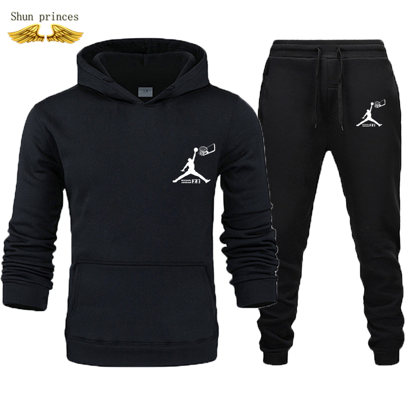 Basketball  Suit Sweatshirts Tracksuits Men Autumn/winter Hoodies + Pants Suit Spring Sweatshirt Sportswear Set Men's Clothing