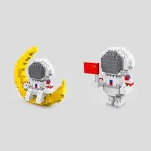 Jeu de construction d'astronaute, micro diamant, blocs de nanobrics, modèle de jouets éducatifs, aventure spatiale, briques de construction pour ornement, cadeaux