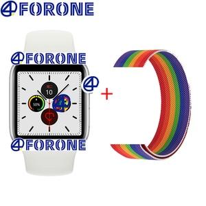 2020 IWO серия 5 Смарт часы влюбленные пара 44 мм умные часы Bluetooth водонепроницаемые спортивные часы для IOS Android PK IWO 8 13 11 Max