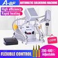 A-BF цифровой дисплей паяльная станция независимая ручка внутренний горячий тип пайки точечный сварщик Автоматическая Оловянная машина 120 В...