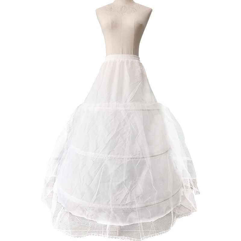 Various Styles Wedding Petticoat Bridal Hoop Crinoline Banquet Prom Skirt Fancy White Princess Skirt Petticoat