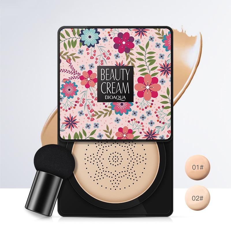 2 Types Air Cushion Mushroom Head BB Cream Moisturizing Natural Nude Concealer Oil Control Translucent Foundation Cream TSLM2