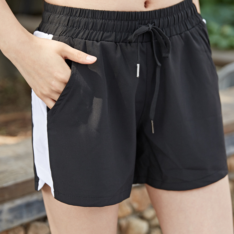 Two-piece Anti-glare Lady Shorts Korean Version Of Quick-drying Breathable Loose Running Fitness Shorts For Women In The Summer