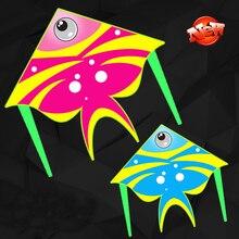 free shipping fish kite nylon ripstop flying toys kite line children kite windsocks eagle kite birds kids kite factory