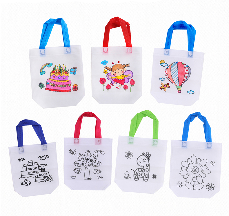 6Pcs Antistress Puzzles Educational Toy for Children DIY Eco-friendly Graffiti Bag Kindergarten Hand Painting Materials GYH 2