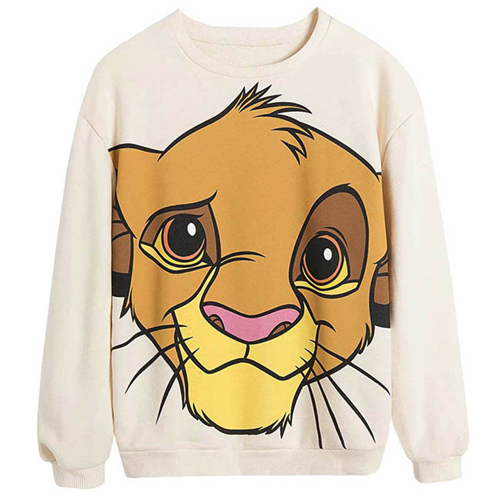 Sweat Femme Simba le Roi Lion - Sweat Disney Femme Créer Son T Shirt