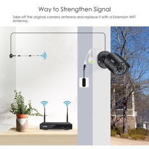 Image 4 - ZOSI H.265 1080P 8CH CCTV система видеонаблюдения беспроводная WIFI IP наружная камера NVR комплект HDD Удаленный просмотр в ПК монитор