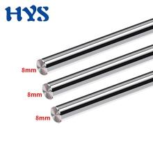 HYS 3D Printer Parts Smooth Shaft Rod Optical Axis Length 100 200 285 370 450 550mm CNC Chromed Diameter 8mm Linear Rail shaft 4pcs 13mm 13x400 linear shaft 3d printer 13mm x 400mm cylinder liner rail linear shaft axis cnc parts