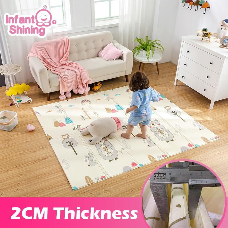 Блестящий коврик для младенцев 2 см, игровой коврик для детей, игровой коврик 180*200*2 см, более толстый детский коврик, мягкие коврики для полза...