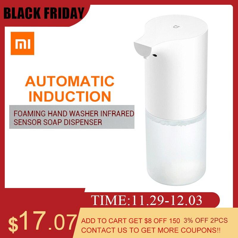 Xiaomi sensor de indução automática espuma dispensador sabão infravermelho espuma lavadora à mão ipx4 dispensadores de sabão para banheiro/cozinha