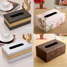 Сделано в Китае коробка ткани Европейский Стиль Домашний контейнер для салфеток полотенце салфетка держатель ткани чехол для украшения для офиса дома