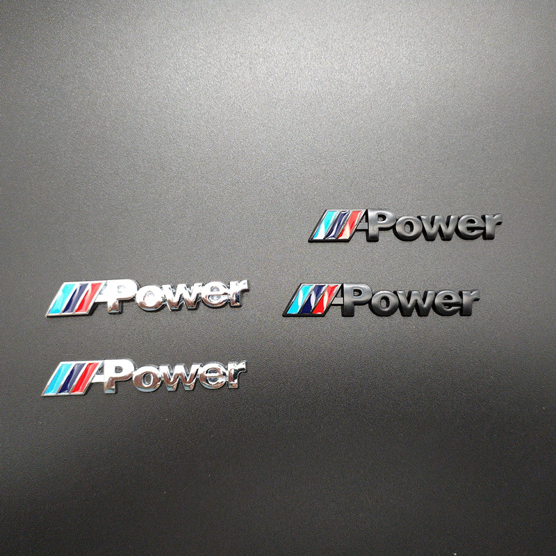 2PCS Car Decal Logo Badge Auto Accessories Sticker M Power Performance For BMW M 1 3 4 5 6 7E Z X M3 M5 M6 Mline Emblem