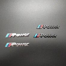 2PCS Car Decal Logo Badge Auto Accessories Sticker M Power Performance For BMW M 1 3 4 5 6 7E Z X M3 M5 M6 Mline Emblem цена 2017