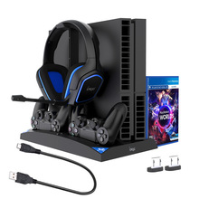 Contact-Charging-Set Cooling-Fan Multi-Function PS4 Universal-Handle Slim/pro