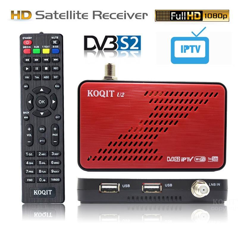 Спутниковый приемник Koqit U2 DVB S2, спутниковый искатель, Интернет-магазин, декодер Cs Biss VU, iPTV DVB-S2, USB, Wi-Fi/RJ45, Youtube
