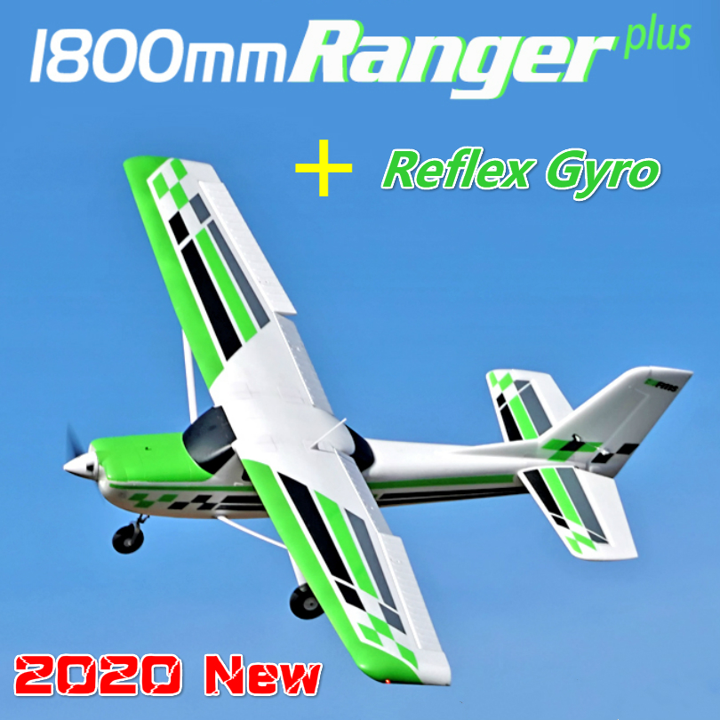 FMS RC Airplane Plane1800mm Ranger Trainer Beginner With Reflex Gyro 5CH with Flaps 4S PNP Model Plane Aircraft Floats Optional image