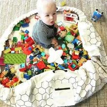 150 см портативное хранение детских игрушек сумка игровой коврик Блоки Игрушки для хранения ребенка ползучий игровой пол одеяло для пикника дорожные игры ковер