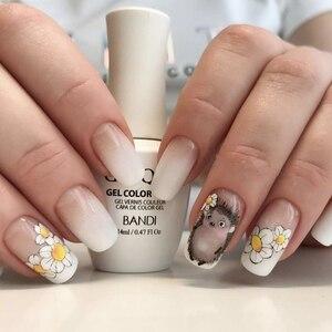 Image 4 - Autocollants pour ongles 3D, 1 feuille dautocollants, Super mignons, autocollants à motifs hérisson, girafe, coccinelle pour décoration des ongles