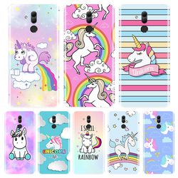 На Алиэкспресс купить чехол для смартфона phone case for huawei mate 7 8 9 10 20x 30 lite rs soft tpu silicone cute rainbow unicorn back cover huawei mate 9 10 20 30 pro