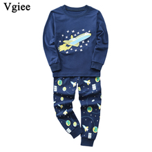 Vgiee Children Boys Girls Clothes Fall Winter Full Unisex Crtoon Pattern for Airplane Baby Kids Girl Set CC649