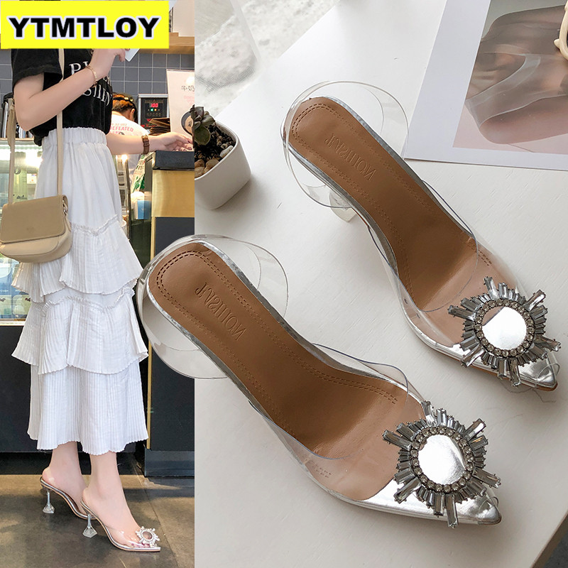 2019 Women's Pumps New Fashion Summer Shoes Leopard Square High Heel Shoe Ladies Wedding Party Shopping Pump Butterfly-knot