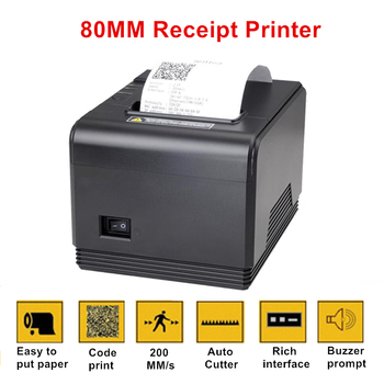 80mm Thermal Receipt POS Bill Printer Network Parallel Port Kitchen Ticket Printer with Auto Cutter For Pos System High Quality