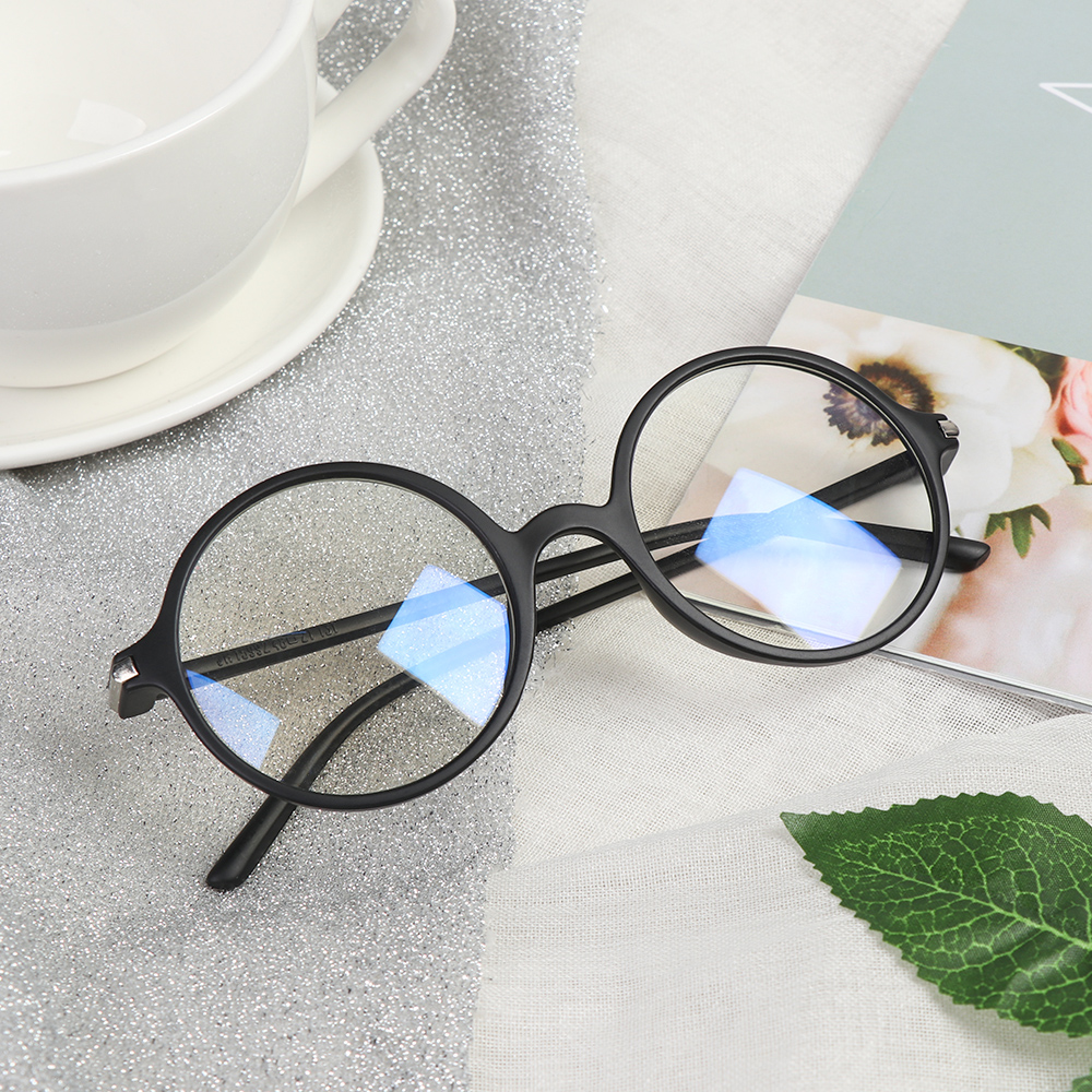 Anti Blue Light Glasses Round Optics Glasses Ultra Light Men Women Anti Rays Radiation Blocking Computer Vision Care Spectacle