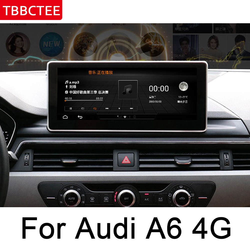 For <font><b>Audi</b></font> <font><b>A6</b></font> A6L 4G 2011~2015 MMI IPS Android Car Multimedia Player <font><b>GPS</b></font> <font><b>Navigation</b></font> Original Style HD Screen WiFi BT image