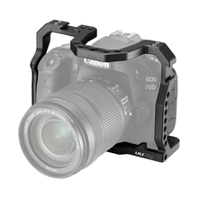 UURig DSLR Camera Cage for Canon EOS 70D 80D 90D Housing Case Cold Shoe 1/4 Arri Hole for Microphone LED Fill Light Extension