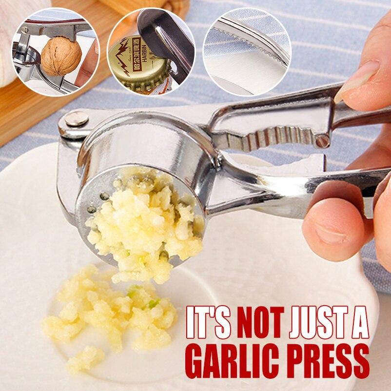 Измельчитель чеснока из нержавеющей стали, кухонный пресс для приготовления овощей, имбиря, ручной измельчитель