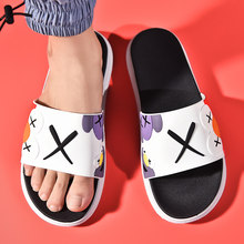Zapatillas de verano para mujer, sandalias deslizantes, zapatos de playa, pantuflas con suelas suaves, sandalias de baño grandes, novedad de 2021